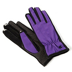 Isotoner - Smartouch purple nylon gloves