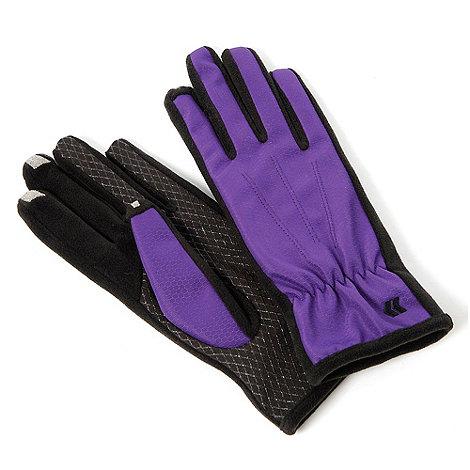 Isotoner - Smartouch purple nylon gloves