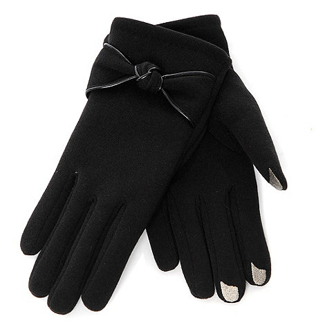 Isotoner - Smartouch black thermal knot gloves