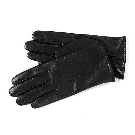 Totes - Black 3 point leather gloves