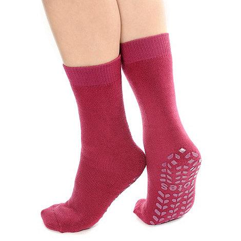 Totes - Red originals slipper socks