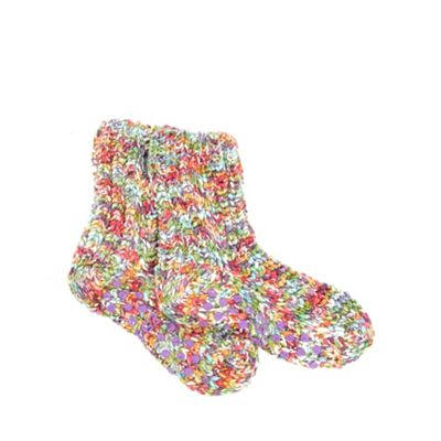 Multi space dye knitted socks