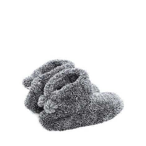 Totes - Grey tipped slouch +bootie+ slippers
