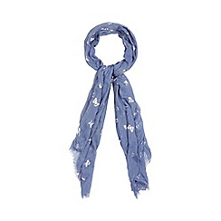 Mantaray - Light blue butterfly foil scarf