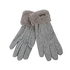 Mantaray - Grey fleece gloves