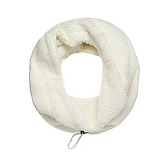 Mantaray - Cream fleece snood