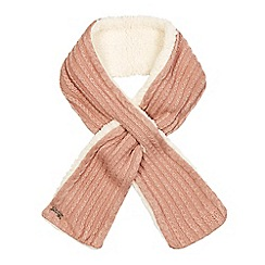 Mantaray - Pink knitted scarf with lambswool