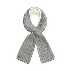 Mantaray - Grey knitted scarf with lambswool