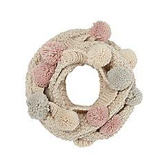 Mantaray - Cream multi pom pom knit snood