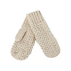Mantaray - Cream knit mittens