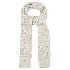 Mantaray - Off white chunky knit scarf