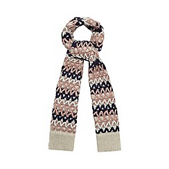 Mantaray - Multi colour zigzag knit scarf