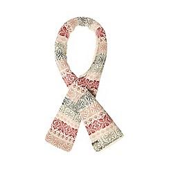 Mantaray - Pink knitted Fair Isle print scarf