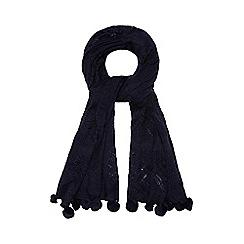 Mantaray - Navy crochet scarf