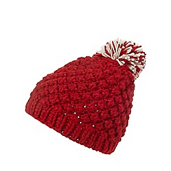 Mantaray - Red knit pom hat