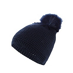 Mantaray - Navy knitted bobble hat