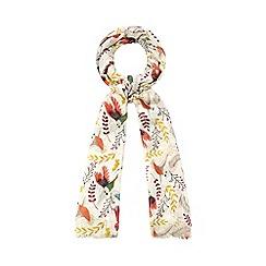 Mantaray - Cream winter bird scarf