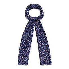 Mantaray - Navy heart print scarf