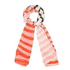Mantaray - Pink stripe print scarf