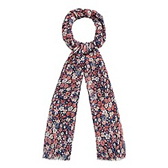 Mantaray - Navy floral print scarf