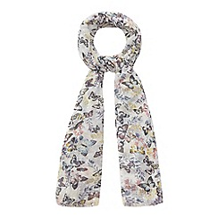 Mantaray - Multi-coloured butterfly print scarf