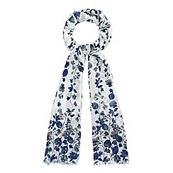 Mantaray - Navy cascading floral print scarf