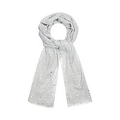Mantaray - Grey star print scarf