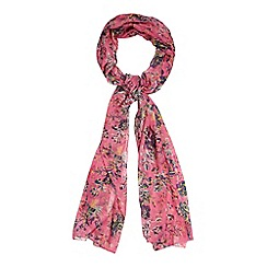 Mantaray - Light pink floral print scarf
