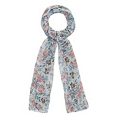 Mantaray - Light blue floral print scarf