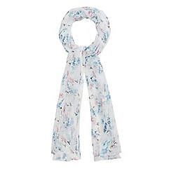 Mantaray - Ivory floral printed scarf