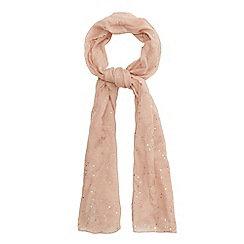 Mantaray - Light pink sequin embellished scarf