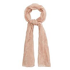 Mantaray - Light pink sequin embellished scarf