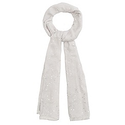 Mantaray - Light grey sequin embellished scarf