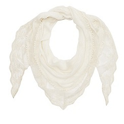 Mantaray - Ivory lace scarf