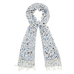 Mantaray - White floral print scarf