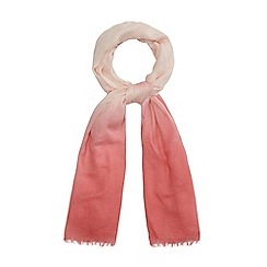 Mantaray - Pink and peach ombre-effect scarf