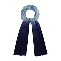 Mantaray - Navy and blue ombre-effect scarf