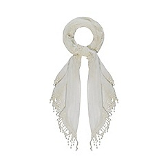 Mantaray - Ivory butterfly lace scarf
