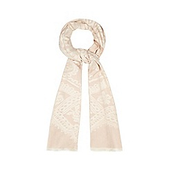 Mantaray - Pink and cream textured floral scarf