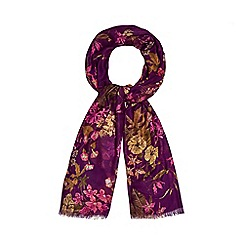 Mantaray - Purple floral print scarf