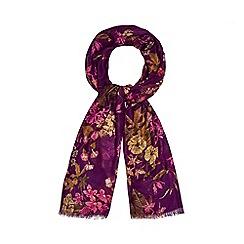 Mantaray - Purple floral print scarf