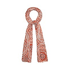 Mantaray - Orange printed scarf