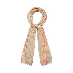 Mantaray - Natural neon border scarf