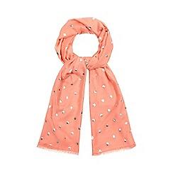 Mantaray - Peach spot embroidered scarf