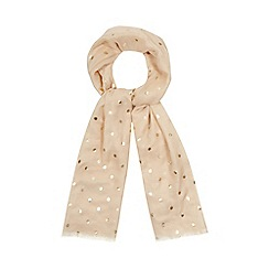 Mantaray - Natural spot embroidered scarf