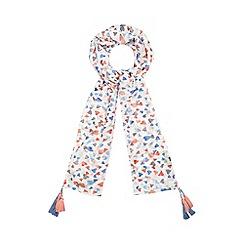 Mantaray - Multi-coloured heart print scarf