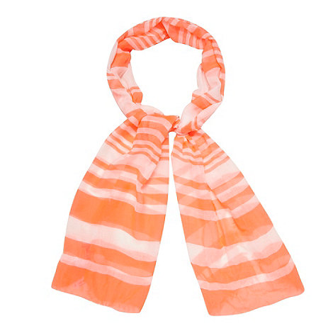 H! by Henry Holland - Bright pink striped scarf