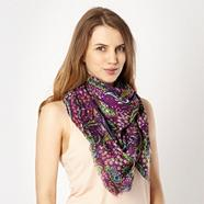 Dark Purple Paisley Square Scarf