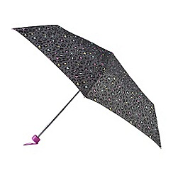 Isotoner - Multi coloured panther print umbrella