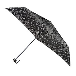 Isotoner - Black & white graduated dot print umbrella